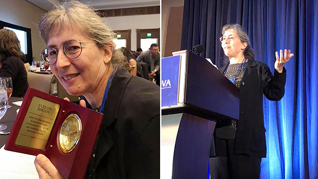 Professor Evelyn Brody accepted the 2018 Distinguished Achievement in Leadership and Nonprofit and Voluntary Action Research Award from ARNOVA during their 47th annual conference.