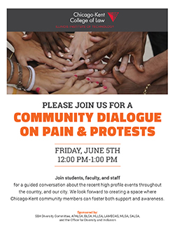 Pain & Protests Event Flyer