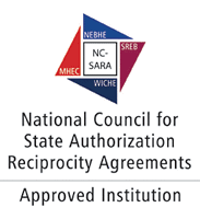 Logo for National Council for State Authorization Reciprocity Agreements - Approved Institution