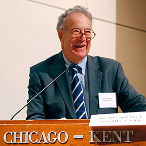 Judge Timothy B. Dyk gave the keynote speech at Chicago-Kent's 2016 Supreme Court Intellectual Property Review.