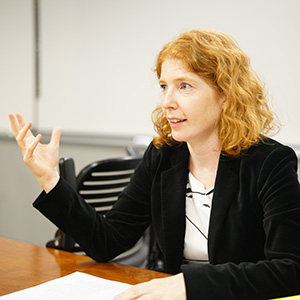 Professor Sarah Rajec of William & Mary Law School discussed her paper <em>In Rem in IP</em> at the Chicago IP Colloquium.