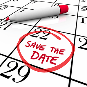 Save the date for September 22, 2016