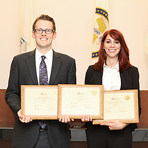 Evan Kline-Wedeen '18 and Brittany Kaplan '19 won the 2018 Saul Lefkowitz Moot Court Competition.