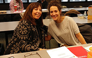 Professor Laurie Leader (left) with her mentee Brittany Hubbard
