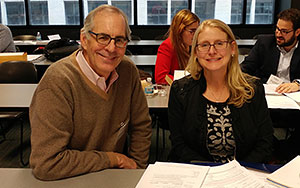 Michael S. O'Connell (left) with his mentee Sharon T. Moran