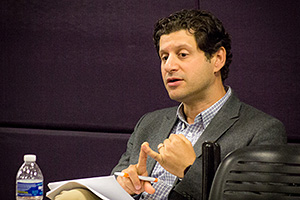 Seth Kaplan ('06) speaking to SSPI participants