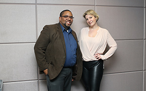 Odell Mitchell with his mentor Heather Blaise