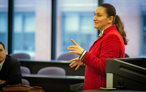 Ljubica Popovic ('98) discusses the unwritten rules of courthouse practice.