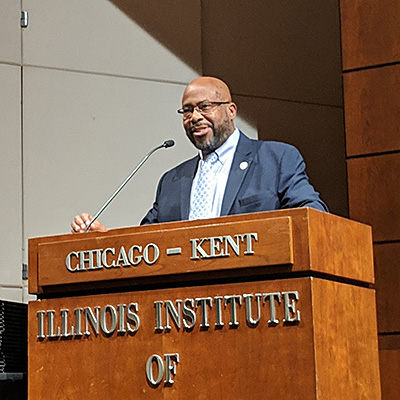 James O. Wilson, assistant regional director of the Elijah J. McCoy Midwest Regional Office of the U.S. Patent and Trademark Office