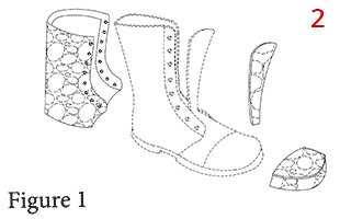 Removable boot cover patent drawing