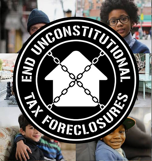 End Unconstitutional Tax Foreclosures Logo