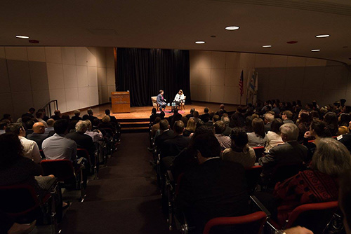 It was standing room only as Chicago-Kent alumni, faculty and students, and members of Chicago's legal community, filled the auditorium, as well as overflow rooms, for Justice Elena Kagan's highly engaging talk.