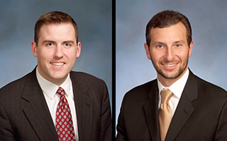 Michael Johnson (left) and Aaron Davis have been named to receive the 2012 Fleischman Family Awards for Excellence in Criminal Clinic.
