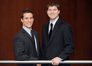 Second-year IIT Chicago-Kent students John Lawlis (left) and Kyle Wallenberg will represent the law school in the Giles Sutherland Rich Memorial Moot Court Competition's Midwest regional tournament March 16 to 18, 2012.
