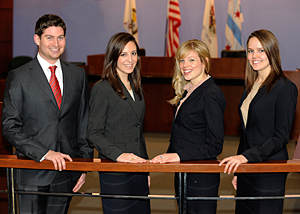 Second-year IIT Chicago-Kent students Jordan Lebovitz, Tara Korthals, Erin Mayer and Bernadett Guy are the winners of the 2012 National Ethics Trial Competition.