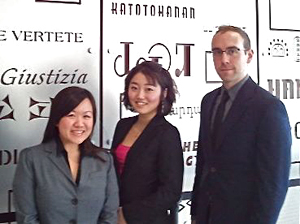 From left, IIT Chicago-Kent students Erica Yee, Eun-kyung Kim and Patrick Abbott will represent the law school at the 24th annual National Environmental Law Moot Court Competition.