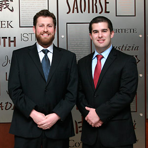 Zeke Katz '14 (left) and Jack Marshall '13 won the 2013 Evan A. Evans Constitutional Law Moot Court Competition held March 15 to 17 in Madison, Wisconsin.