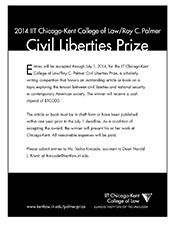 Download the 2014 Palmer Prize call for entries.