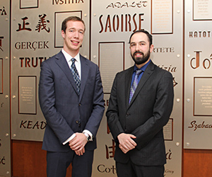 Jared Reynolds (left) and Lyal Fox III will compete on the other team representing IIT Chicago-Kent at the 2014 National Veterans Law Moot Court Competition.