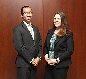 Brendan Perry and Jenna Bressel will compete on another team representing Chicago-Kent in the ABA Regional Negotiation Competition.