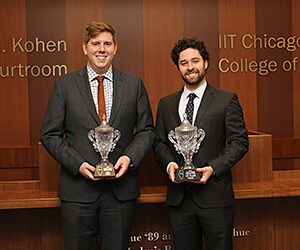Matthew Smart (left) and Justin Joffe won the Appellate Lawyers Association's 2015 National Moot Court Competition championship and best brief award.