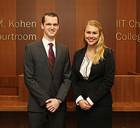 Matt McElwee and Katie DeBoer will compete on one of two teams representing Chicago-Kent at the National Moot Court Competition Region 8 tournament.