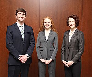 Leo Reardon, Kayla Higgins and Holly Venhuizen will compete as another IIT Chicago-Kent team in the sixth annual National Cultural Heritage Law Moot Court Competition.