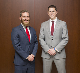 Nicholas Brankle (left) and Gregory Conner will compete on the other team representing Chicago-Kent at the 2015 National Veterans Law Moot Court Competition.