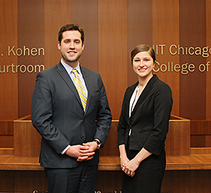 Alex Halaska '17 and Theresa Starck '17 will comprise the other Chicago-Kent team participating in the 2016 ABA National Appellate Advocacy Regional Competition.