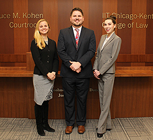 Second-year students Emily Linehan, Jeff Michalik and Alyssa Jutovsky will compete on one of two teams representing Chicago-Kent in the 2016 National Cultural Heritage Law Moot Court Competition.