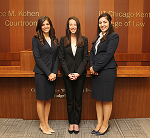 Second-year students Alexandra Reitzner, Karen Vaysman and Karolen Younan will comprise the other team representing Chicago-Kent in the 2016 National Cultural Heritage Law Moot Court Competition.