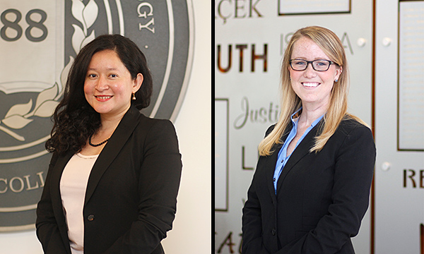 Dalia Labrador '17 (left) and Lydia Ness '16 are the recipients of Chicago-Kent's 2016 Fleischman Family Awards for Excellence in Criminal Clinic.