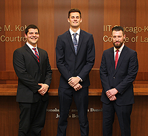 Second-year students Nicholas Dollenmaier, Schuyler Ufkes and Matt Cannon will participate in the 2016 Frank A. Schreck Gaming Law Moot Court Competition.