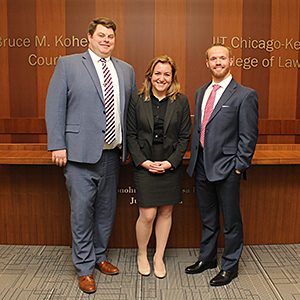 Michael Cosgrove, Alexandria Seydel and Paul King will represent Chicago-Kent at the 2016 Irving R. Kaufman Memorial Securities Law Moot Court in New York.