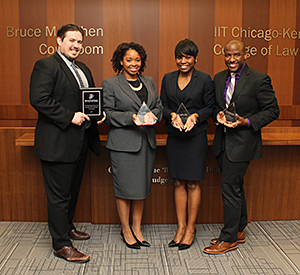 Benjamin Jacobs '17, Whitney Williams '16, Brandi Burton '16 and Dion Beatty '17 placed third at the national round of the 2016 Thurgood Marshall Mock Trial Competition.