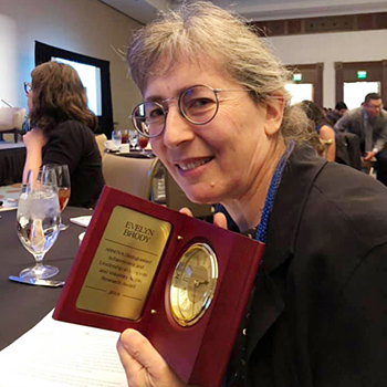Professor Evelyn Brody accepted the 2018 Distinguished Achievement in Leadership and Nonprofit and Voluntary Action Research Award from ARNOVA during the organization's 47th annual conference.