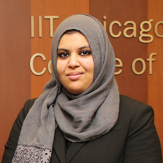 Mahira Musani '19 is the recipient of Chicago-Kent's 2019 Marc Grinker Student Commitment Award.