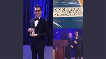 Professor Daniel Martin Katz was inducted as a fellow of the College of Law Practice Management at the organization's 2017 annual meeting in Atlanta, Georgia.