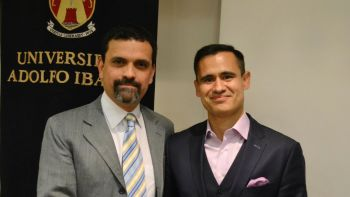 Professor Sergio Gamonal C. (left) of Adolfo Ibáñez University in Chile and Associate Professor César Rosado Marzán of Chicago-Kent College of Law and co-authored Principled Labor Law: U.S. Labor Law through a Latin American Method (Oxford University Press 2019).