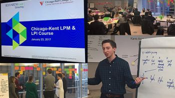 Students participated in an intensive Saturday workshop at Seyfarth Shaw to kick off Chicago-Kent's new Legal Project Management and Legal Process Improvement course.