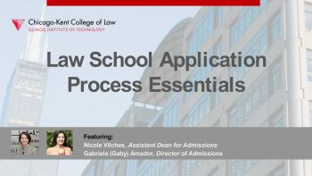 Webinar title image for Law School Application Process Essentials: Top Admissions Questions