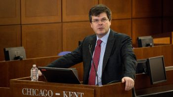 Senior fellow at Brown University's Watson Institute for International and Public Affairs Timothy Edgar, winner of the 2018 Chicago-Kent College of Law/Roy C. Palmer Civil Liberties Prize, discussed the ideas in his book Beyond Snowden: Privacy, Mass Surveillance, and the Struggle to Reform the NSA (Brookings Institution Press 2017) at Chicago-Kent on April 1, 2019.