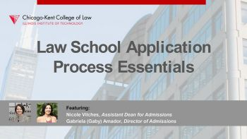 Webinar title image for Law School Application Process Essentials: What You Need to Know